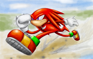 Knuckles the echidna running by Rush88