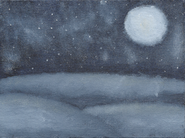 Dark Winter's Night Painting by Dandric101
