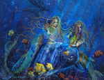 Fantasy Mermaids Of Aqualainia by digitalwizard