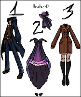3 Outfit Comissions by Amela-xD