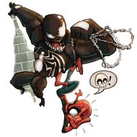 Venom and Spiderman by ElBrazo