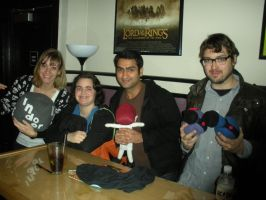 Me, Emily, Kumail and Jonah with their plushies by HeatherMason76