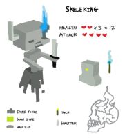 Fake Mob: Skeleking by Astrix-Phneuman