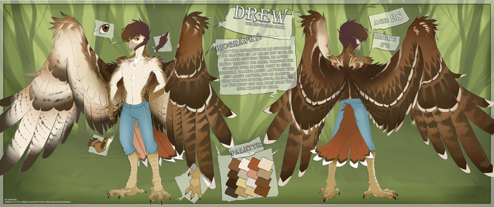 Drew - Reference Sheet by BrotherFlounder