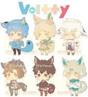 Auction : Voltty Species Set 1 [CLOSED] by HyRei