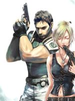 Chris Redfield and Aya Brea by Jack--Sparrow