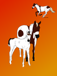 Mare and colt pair sale by ChestnutGroveAdopts