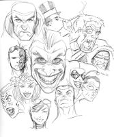 10302014 DCHeadsketchVillains by guinnessyde