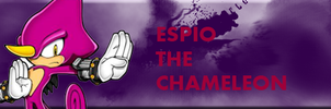 Espio The Chameleon Signature by Dingo-Sniper