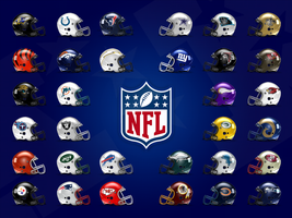 NFL Helmet Poster by SpaceDyeDesigns