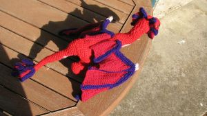 Red Dragon Crocheted - back by dariyan
