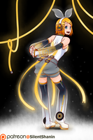 Kagamine Rin Append by Silent-Shanin