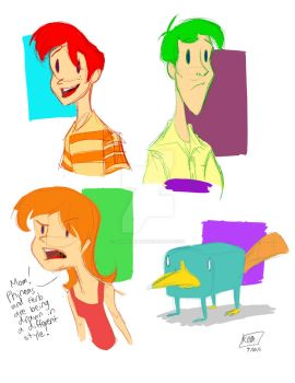 Diff Phineas and Ferb by animegirl43