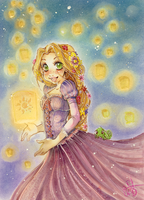Tangled Rapunzel finished... by evaYabai