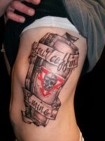 Alkaline Trio coffin by jonatbiggunstattoo