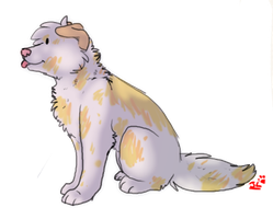 Chibi dog by DarkWolves-of-flames
