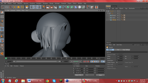 Cinema 4D animating Annie Leonhardt by yellowpandabl
