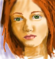 Redhead face by EricaVee