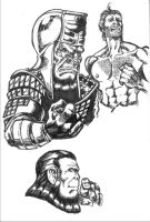 Planet Of The Apes doodlings by KirqArts