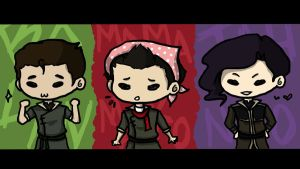The Boys of Korra - Chibi by ShOrtSh4dow