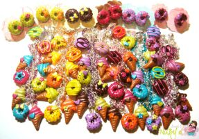 Ice cream n donuts sets by colourful-blossom