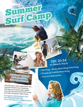 Summer Surf Camp Flyer by inddesigner