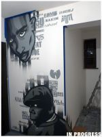 2Pac and Biggie At Sound Hostel by TheSaulOne