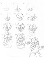 How to Draw Ash Ketchum part 1 by EternASH