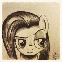 Fluttershy Face by TheAsce