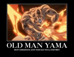 Old Man Yamamoto Motivational Poster by UshasDragon