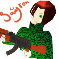 A solider with ak-47 by saiyron