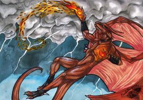 Flames and Storm by Natoli