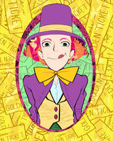willy wonka in a sea of golden tickets by the-star-samurai