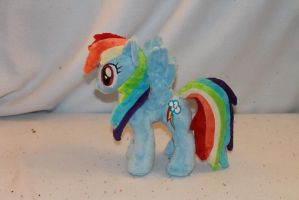 Tiny Rainbow Dash Plush by KarasuNezumi
