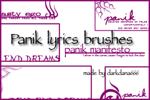 panik lyrics brushes by darkdana666
