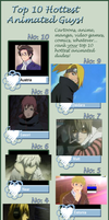 My Top Ten Hottest Anime Guys by bookworm555