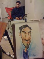 caricature of a friend by marcocano