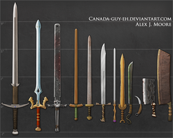Swords, set #1 (update) by Canada-Guy-Eh