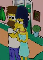 Homer And Marge - Perlnecklace by ChnProd22