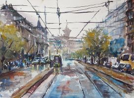 Tram is coming by sampom
