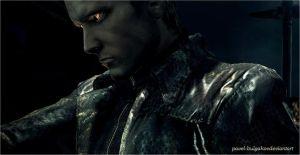 Wesker  shoots by pavel-bulgakov