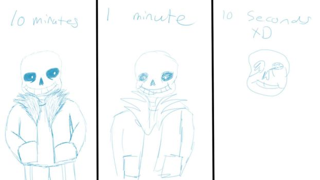 10 Minutes, 1 Minute, 10 seocnds challenge - Sans by ImaBanana84