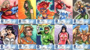 DC New 52 Sketch Cards: 21-30 by skardash