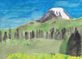 mountain painting by Snivy94