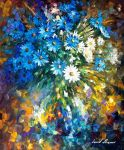 Bouquet of happiness by Leonid Afremov by Leonidafremov