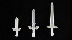 3D Printed LEGO Ocarina of Time Swords by mingles