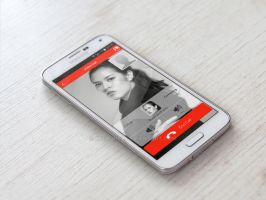 Red Theme Video Call UI by ReedONEZ