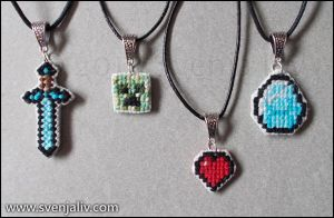 Minecraft Pendants by SvenjaLiv