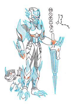 Wyvera, Toa of the Constellation Draco by Color17