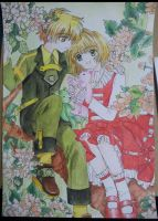 Syaoran and Sakura :D by SaM-bluefunnybear
